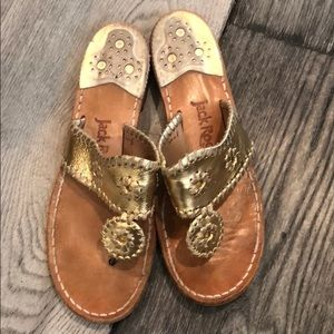 Jack Rogers Gold NAVAJO sandals 8 m